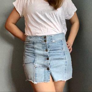 Extreme Limit Vintage 90's patchwork denim skirt